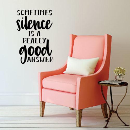 Nalepka Silence